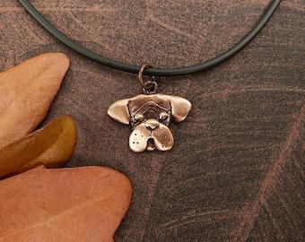 Bronze Boxer Necklace