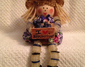 Blueberry Button Doll