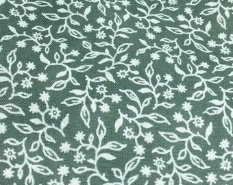 Lush Meadow printed muslin hand dyed cotton  by From the Cauldron