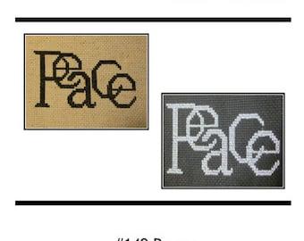 PDF E pattern emailed PEACE Cross Stitch Pattern Sampler 149