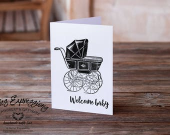 New Baby Card, Welcome Baby, Greeting Card, New Baby Card, Baby Boy Card, Baby Shower, Birth, Baby Girl Card, New Baby Boy, New Baby Girl