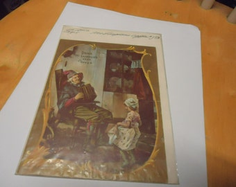 Vintage 1800's  Mc Laughlin's XXXX Coffee Advertisement in plastic named Faster Grandpa, collectble,