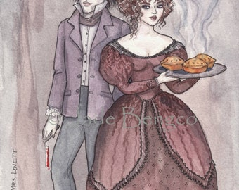 SWEENEY TODD and Mrs. LOVETT limited edition art print