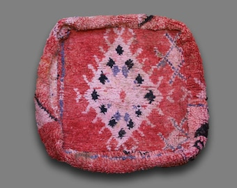 Moroccan Vintage Pouf, Floor Cushion, Floor Pouf,Free shipping