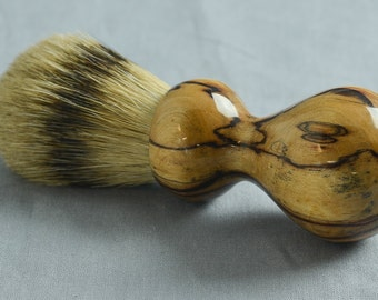 Spalted Paper Birch Shaving Brush, 24mm