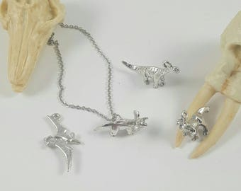Dinosaur Necklace, T Rex Necklace, Triceratops Necklace, Pterodactyl Necklace, Brontosaurus Necklace, Apatosaurus Necklace