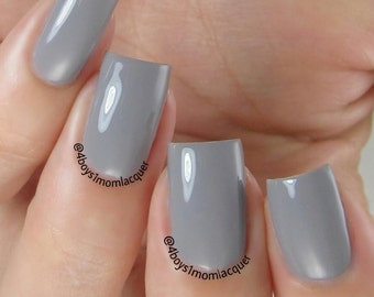 Rainstorm - Cloudy Gray Creme Nail Polish