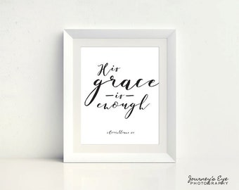 Printable art, digital download, instant art, typography print, Bible verse, home decor, printable quote, digital art