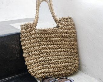 SUMMER LOVIN' / Woven mini market bag / Basket Tote bag / basket bag
