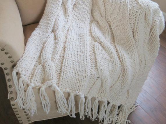 Knit Blanket Pattern Chunky Blanket Pattern Super Bulky Knit