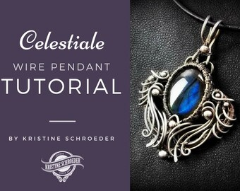 Wire Jewelry Tutorial, Wire Wrap Tutorial, Wire Jewellery Tutorial, Advanced Jewelry Tutorial, No Soldering, Kristine Schroeder, Download