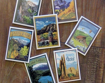 Colorado Series Magnets: Choose From 55 Paintings - The Bungalow Craft by Julie Leidel