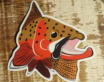 Cutthroat Trout Kype Sticker Decal