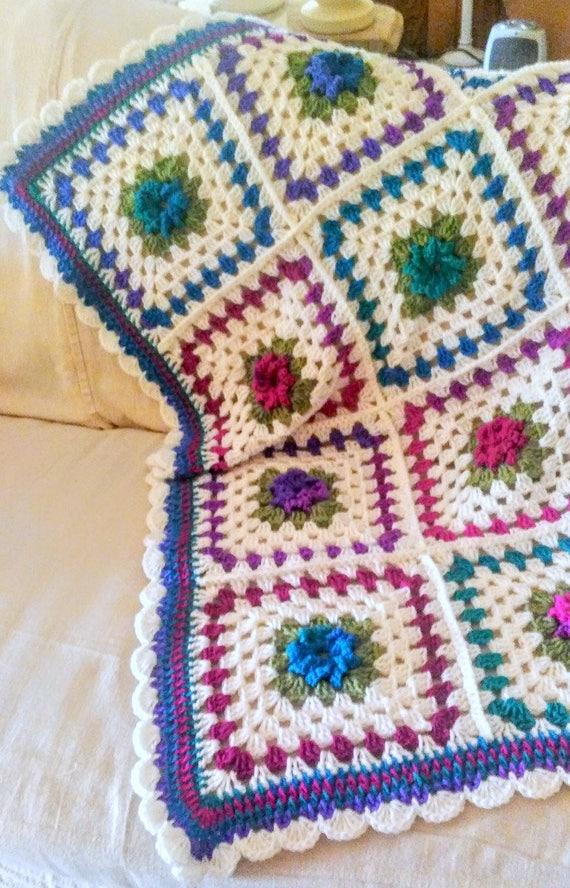 New crochet afghan 20 off sale jewel tone colors pin - Jewel tones color wheel ...