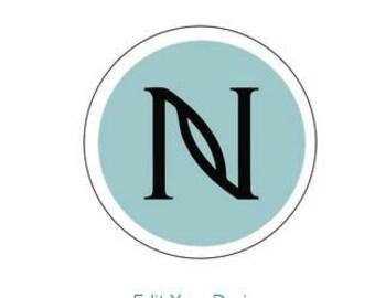 1 SHEET of  24 Nerium Logo stickers