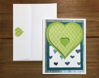 Handmade i love you greeting card