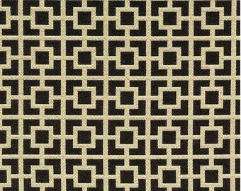 Gold Geometric Upholstery Fabric