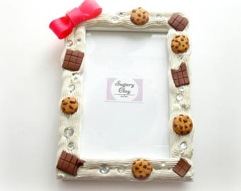 Decoden Frame, Kawaii Decor, 4x6 Picture Frame,Sister Picture Frame, Baby Shower Gift, Polymer Clay Frame, Wooden Picture Frame, Cute Frame