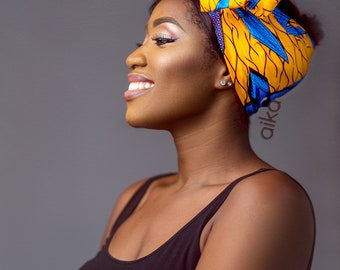 African Print Head scarf, African Headwrap, Ankara Headwrap, Ankara Scarf