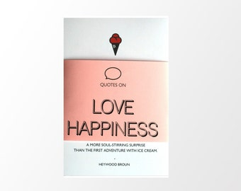 Love and Happiness Quotes- Set of 5 prints- 6x4