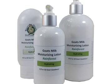 Rainforest Goat Milk Lotion, Lotion, Goat Milk Lotion, Essential Oil Blend Lotion