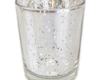 Mercury glass votive Etsy