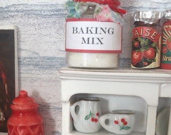 Dollhouse Miniature Baking Mix Canister
