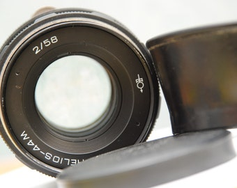 Helios 44M 2.0/58mm M42 screw Russian Lens for Zenit Pentax Practika USSR + Hood