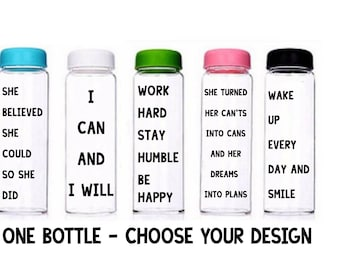Motivational Water Bottle | Customised Bottle | Motivational Bottle | Motivational Quote | Drinks Bottle | Sports Bottle | Work Bottle