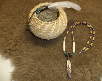 Ready to Ship - Feather Pendant Necklace