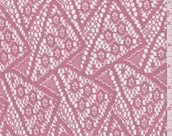 Salmon Pink Crochet Lace, Fabric By The Yard