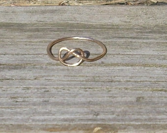 Gold Knot Stacking Ring