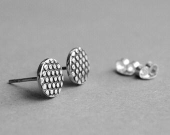 Handmade silver earrings/ Silver Stud Earrings
