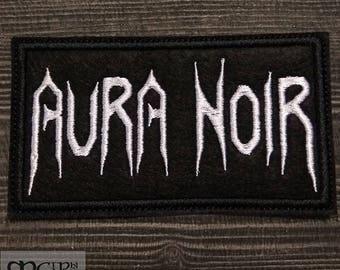 Patch Aura Noir Black Metal thrash metal band.