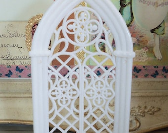 Vintage / Wedding Cake Topper Add-On / Cathedral Window