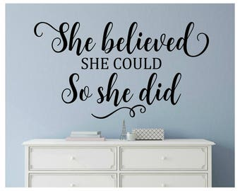 girl wall decals etsy. Black Bedroom Furniture Sets. Home Design Ideas