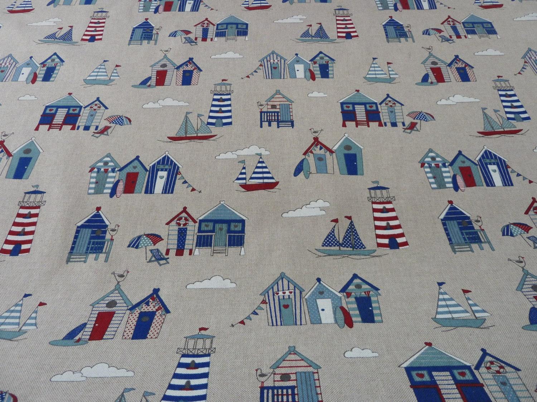 nautique tissu bord de mer plage des huttes bateaux. Black Bedroom Furniture Sets. Home Design Ideas