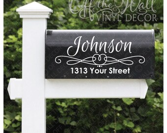 Vinyl Mailbox Lettering Decoration Decal Sticker X2 For Each Side, #D20