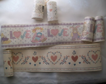Hearts and love wallpaper border assortment