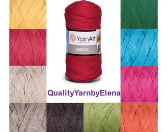 RIBBON YARN ART -  60% cotton 40 ViscosePolyester- 250g 125m (137 yards) turkish yarn