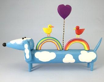 happy rainbow doxie
