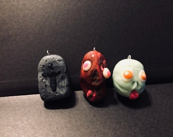Lot of Three Zombie Ornaments