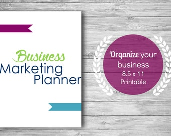 Business Marketing Planner Printable