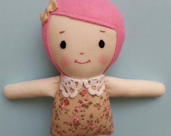 Storybook Ragdoll, handmade cloth doll plush toy