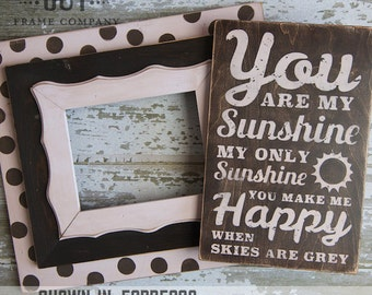 You Are My Sunshine Wall Art Distressed Subway Wood Typography Sign