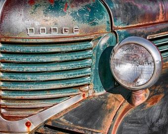 40s Dodge Pickup Dodge Ram Dodge Ram Emblem Grill & Headlight Old Dodge Truck Classic Truck Country Home Decor Rustic Wall Decor Cabin Decor