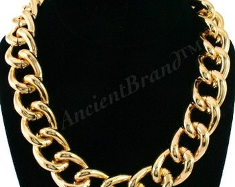 Hot Seller Vintage Chunky Gold Chain Necklace, Light Gold