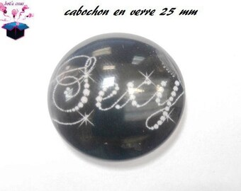 1 cabochon clear 25 mm round hot topic