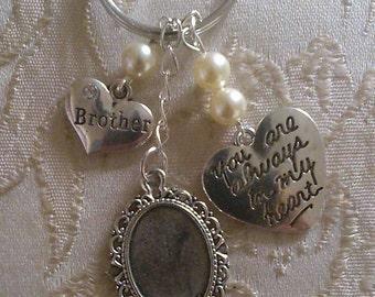 Memorial Photo Key Ring Charm Groom/Wedding/Bridal