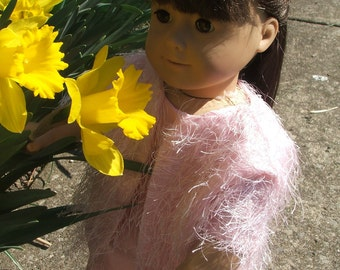 Pink Dress and Shaggy Jacket for American Girl Doll